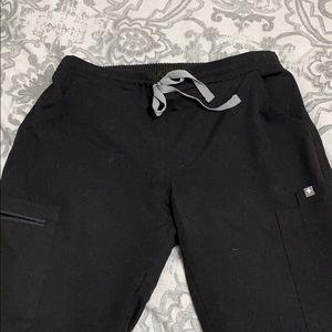 Black yola figs scrub pants